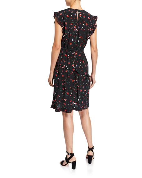 Derek Lam 10 Crosby Lyra Belted Floral Ruffle Dress