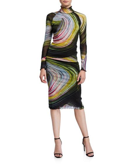 Diane von Furstenberg Elaine Printed Pencil Skirt
