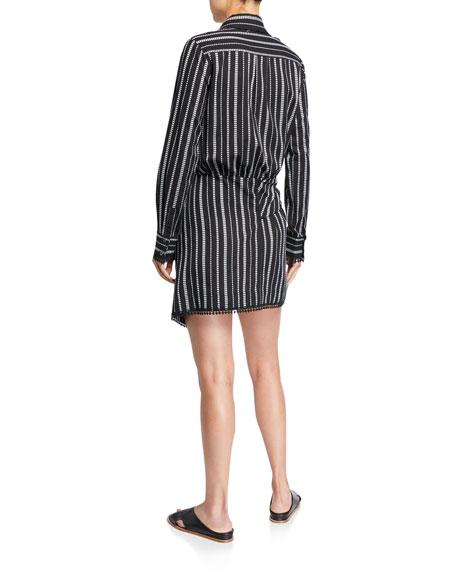 Derek Lam 10 Crosby Eunice Striped Shirt Dress