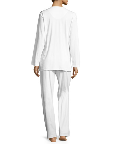 Butter Knit Pajamas, White