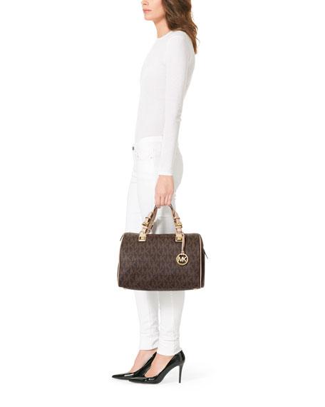 4d14d13b5560 MICHAEL Michael Kors Grayson Large Logo Satchel Bag