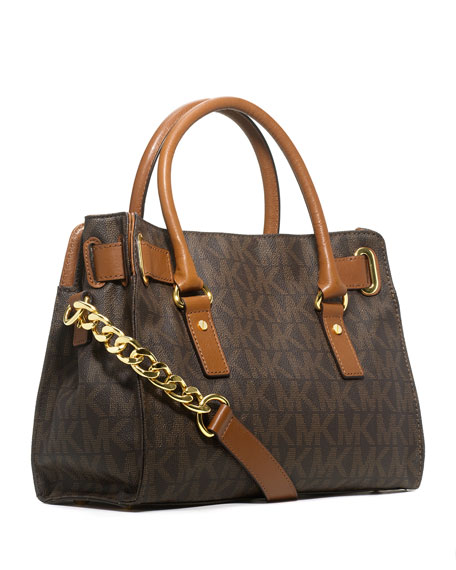 Hamilton MK Logo Satchel Bag, Brown
