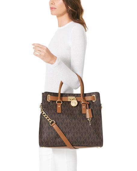 hamilton large logo tote  MICHAEL Michael Kors Hamilton Large MK Logo Tote Bag, Brown | Neiman ...