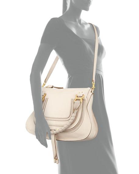 Chloe Marcie Medium Satchel Bag, Nut