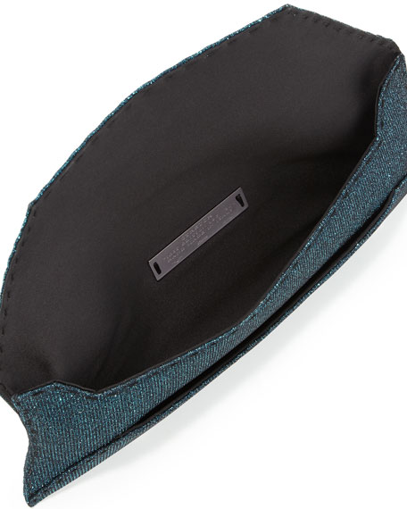 Manila Stretch Sparkle Clutch Bag, Turquoise