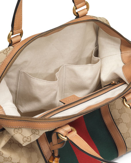 Rania Canvas Top Handle Bag, Classic Khaki