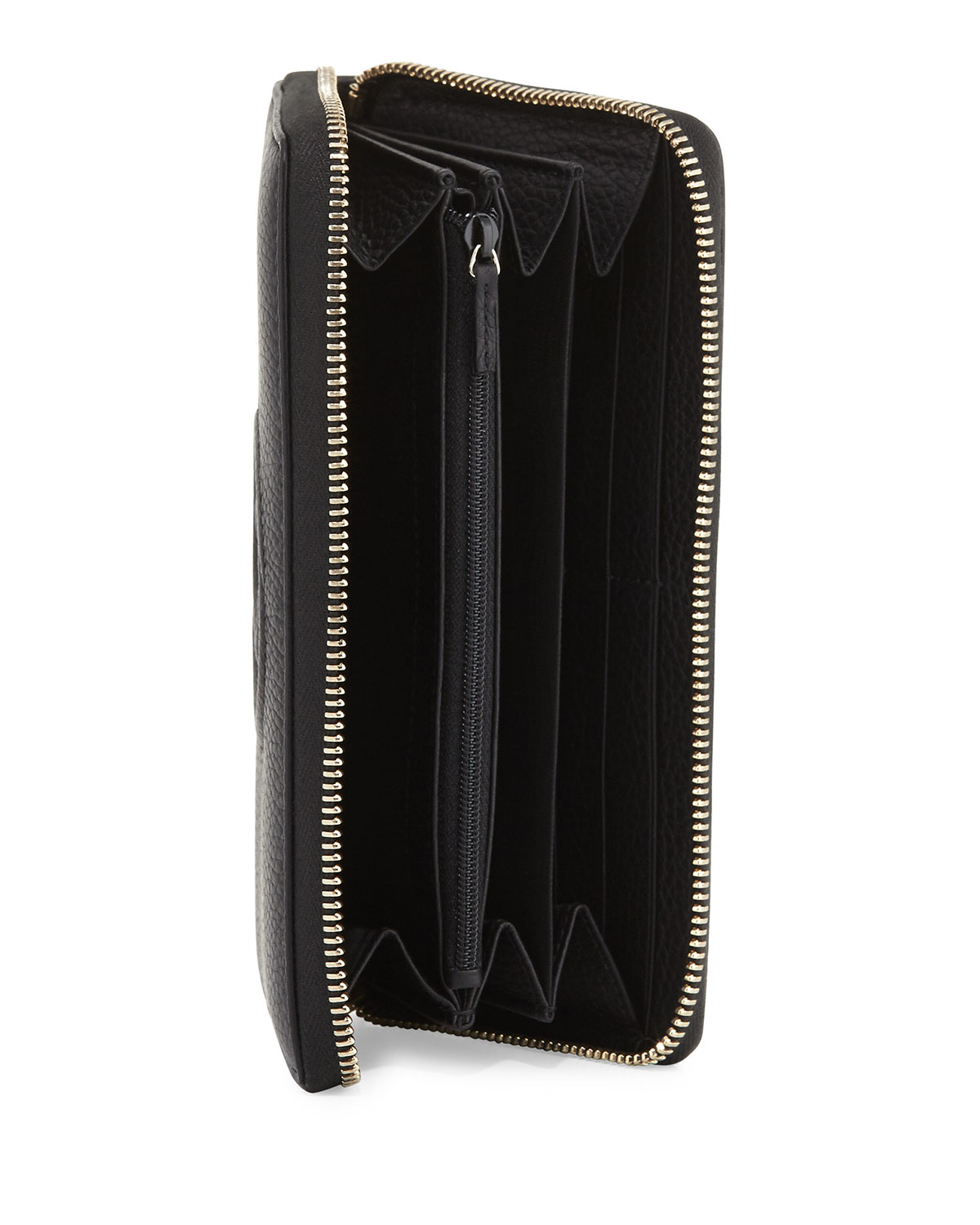 86e6035a42f5 Gucci Soho Leather Zip-Around Wallet, Black | Neiman Marcus