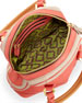 Trixie Colorblock Mini Satchel Bag, Clay/Coral
