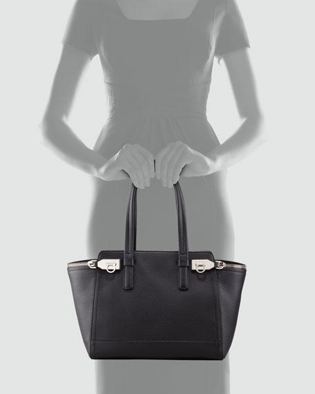 Verve Double-Zip Tote Bag, Black