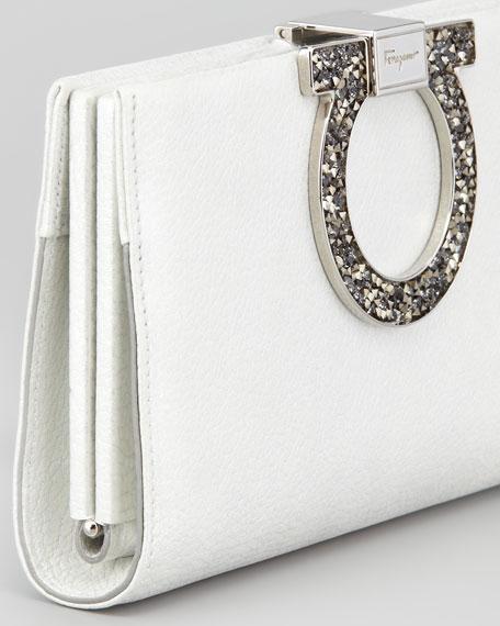 Musetta Gancini Clutch Bag, Pearl