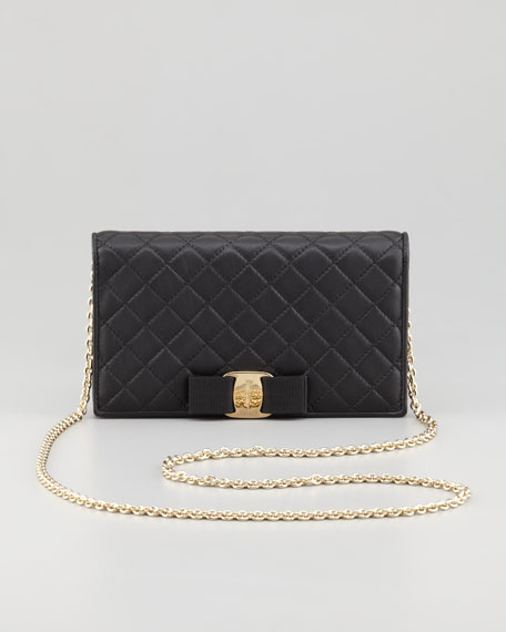Miss Vara Quilted Mini Crossbody Bag, Black