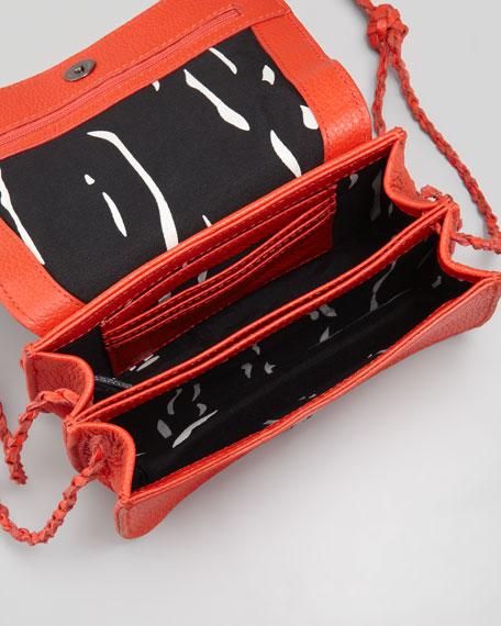 Tyler Bead-Front Crossbody Bag, Poppy