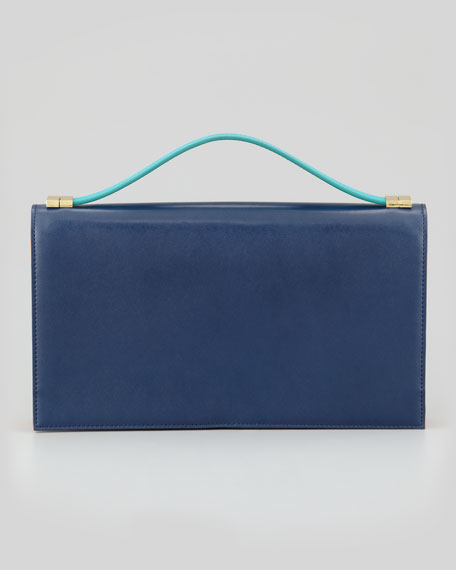 Rina Organizer Clutch Bag, Midnight/Saffron/Tropical Green