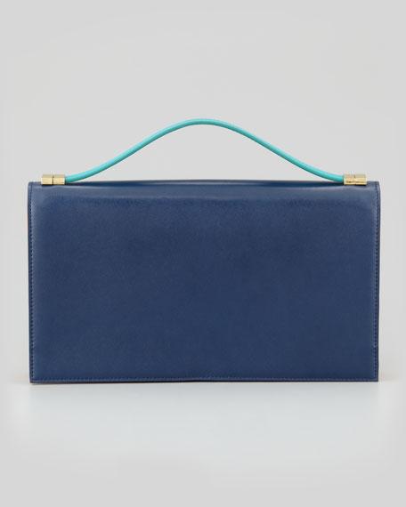 Rina Organizer Clutch Bag, Midnight/Saffron/Tropical Green