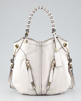 Oryany Gwen Leather Shoulder Bag, White