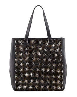 Christian Louboutin Panettone Spiked Shopper Tote, Multi