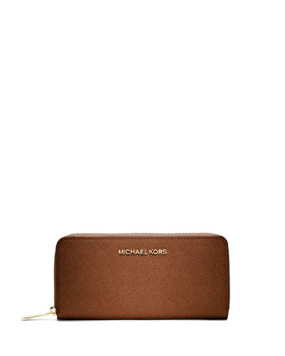 Jet Set Saffiano Continental Wallet, Luggage
