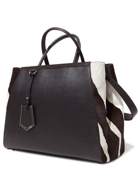 2Jours Animal Print Tote Bag, Zebra