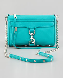 Rebecca Minkoff Mini MAC Crossbody Bag, Sea Green