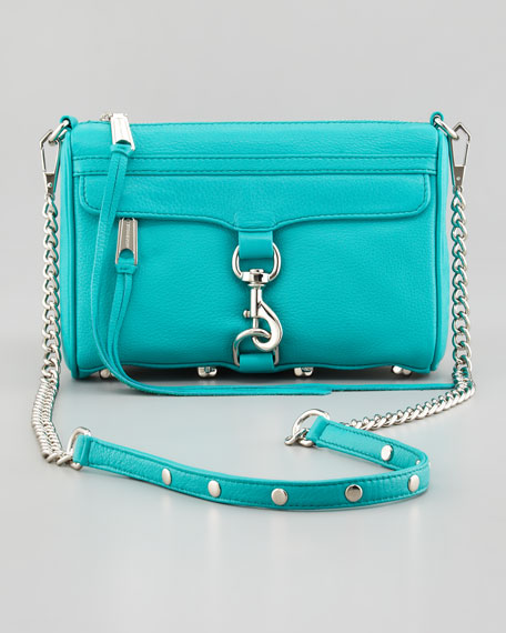 Mini MAC Crossbody Bag, Sea Green