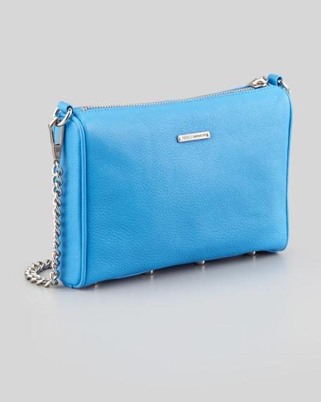 Mini 5-Zip Crossbody Bag, Cerulean