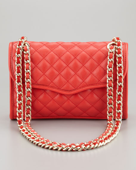Quilted Affair Mini Shoulder Bag, Fire Engine