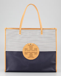 Tory Burch Viva Striped East-West Tote Bag