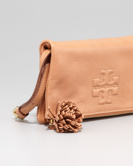 Thea Fold-Over Crossbody Bag, Nutmeg