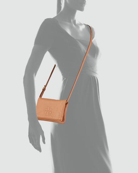 Thea Fold-Over Crossbody Bag, Nutmeg
