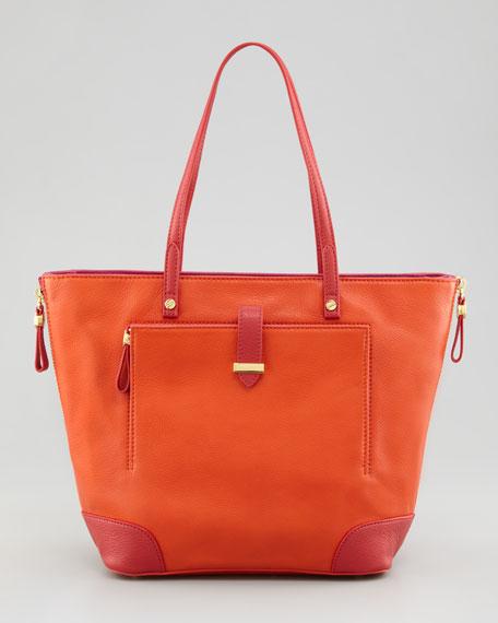 Clay Small Colorblock Tote Bag, Orange