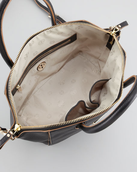Clara Crossbody Satchel Bag, Black