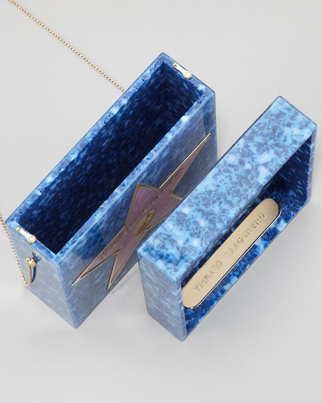 Walk of Fame Matchbox Clutch Bag, Blue