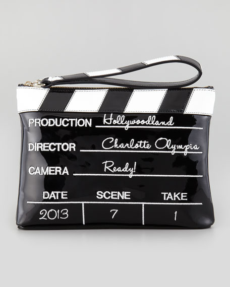 Lights! Camera! Action! Clutch Bag