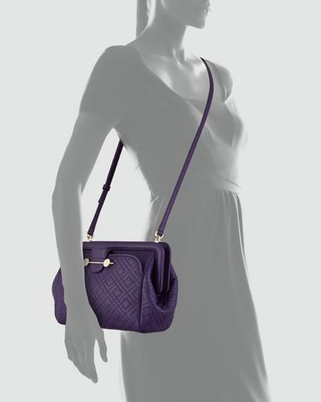 Daphne Quilted Crossbody Bag, Violet