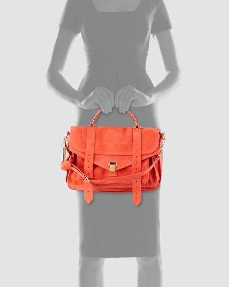 PS1 Medium Suede Satchel Bag, Orange