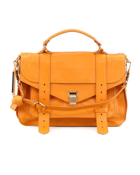 PS1 Medium Satchel Bag, Krisna Yellow