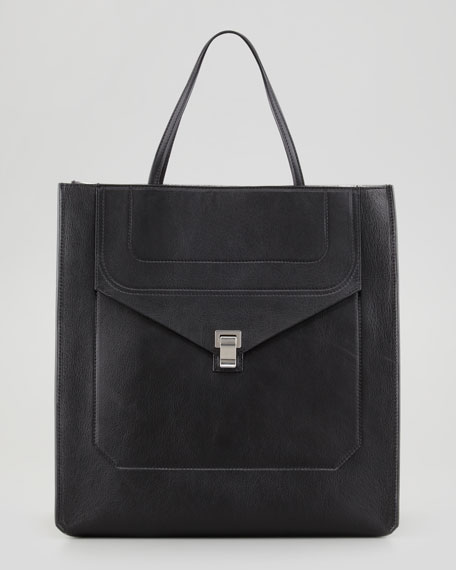 PS1 Luxe Shopping Tote Bag, Black