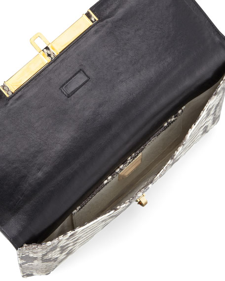 Mia East/West Python Clutch Bag
