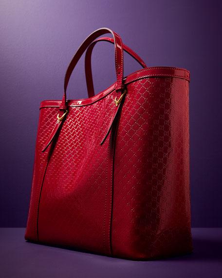 4393c784557 Gucci Gucci Nice Microguccissima Patent Leather Tote