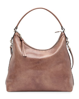 Gucci Miss GG Leather Hobo, Mauve