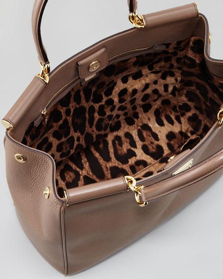 Miss Sicily Bar-Top Shopper Bag, Taupe