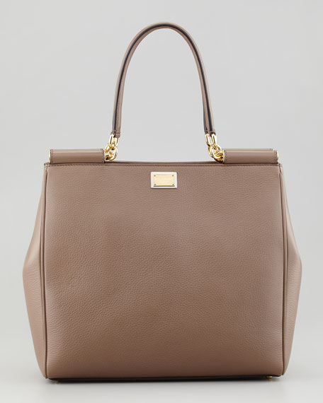 Miss Sicily Bar-Top Shopper Bag, Taupe