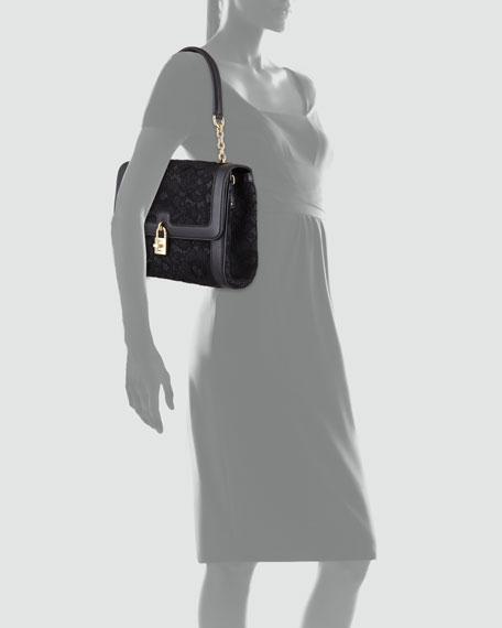 Miss Dolce Lace Shoulder Bag, Black