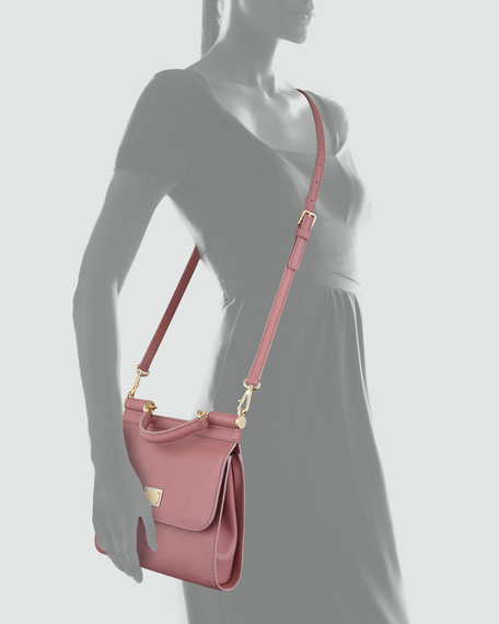 Miss Sicily Slim Crossbody Flap Bag, Pink