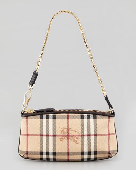 8a7a282f0b2 Burberry Small Haymarket-Check Shoulder Bag