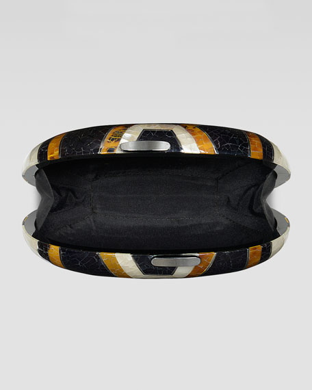 Lizelle Oval Minaudiere, Multicolor