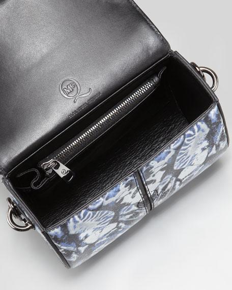 Bug-Printed Box Crossbody Bag, Indigo