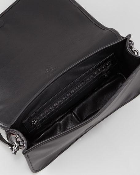 Bug-Print Leather Crossbody Bag