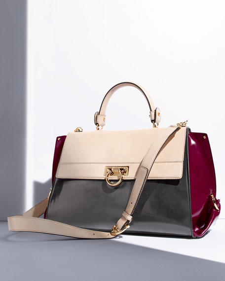 Sofia Tricolor Satchel Bag