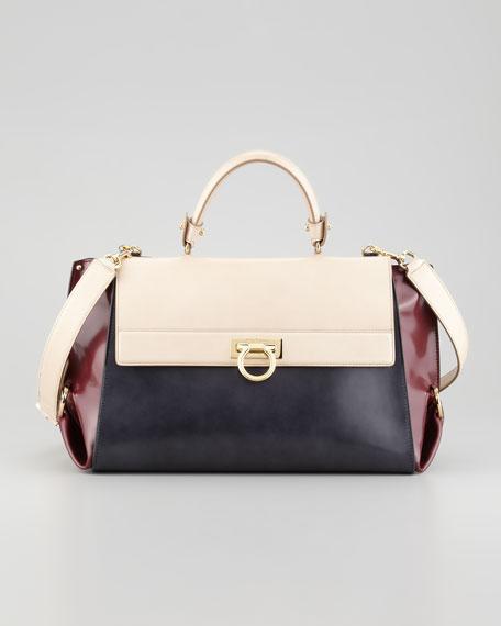 Sofia Tricolor Satchel Bag